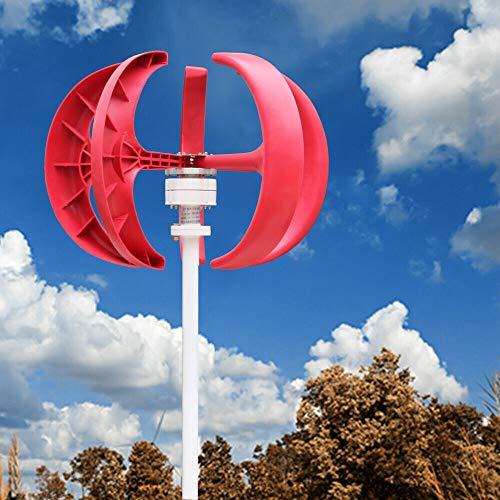 YIYIBY Windkraftanlage 600W 12V Windrad Garten Windturbine windgenerator Haushalt Laterne Vertikale Windgenerator 5 Blätter Windkraftanlage Kit