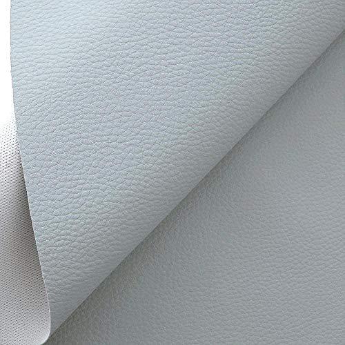 TOLKO Lederimitat mit Rindsleder Optik | weiche Premium Meterware | für Stuhl Bank Sessel Sofa Sitzbezug 140cm breit | Kunstleder Bezugstoff Polsterstoff Polsterbezug Möbelstoff (Grau)