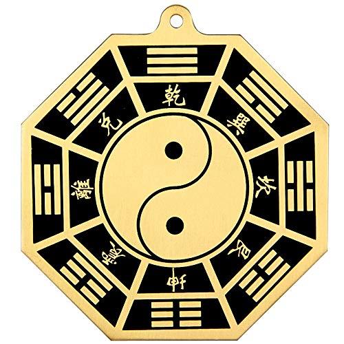 Chinese Feng Shui Brass Bagua Mirror 5.7 Inch