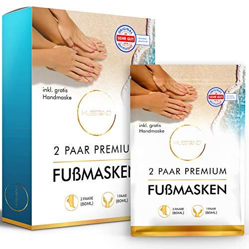 [2 Paar] Fußmaske Hornhautentfernung + [1 Paar] Handmaske - dermatologisch getestet - Anti Hornhaut Socken - Hornhaut-Entfernung Socken - Anti Hornhaut Socken - Fußpeeling Maske - Foot Peel Mask