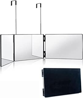 3-Way Mirror Trifold Mirror for Self Hair Cutting and Styling Hangable On Wall or Tabletop Cosmetic Makeup Mirror with Hei...