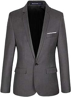 BOZEVON Men Business Jacket Suits - Casual Gentleman Blazer Coat One Button Coat Winter Slim Fit Formal Long Sleeve Outerwear