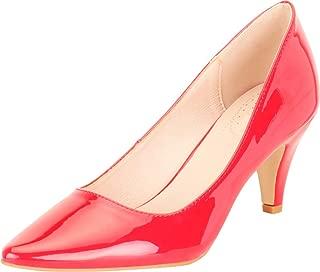 Cambridge Select Women's Classic Pointed Toe Mid Heel Pump
