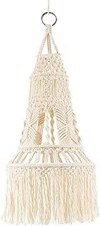 Mkono Macrame LampShade Ceiling Pendant Light Shade Tasseled Chandelier Boho Wedding Hanging Handwoven Home Decoration