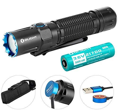 OLIGHT M2R PRO Warrior Taschenlampe 1800 Lumen 300 Meter Reichweite, 21700 Wiederaufladbare Batterie, Dual-Switch LED Taschenlampen für den Outdoor-Haushalt