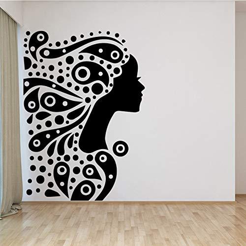 BailongXiao Exquisito adhesivo de vinilo para mujer, impermeable, para pared o dormitorio, tamaño XL, 58 cm x 81 cm
