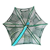 Portable Bait Traps Fishing Nets Foldable - Easy Use Hand Casting Bait Traps Cage Baits Cast Mesh Trap for Fishes, Shrimp, Minnow, Crayfish, Crab, Crawdad (6026CM (Dia:23.62' Heights:10.24'))
