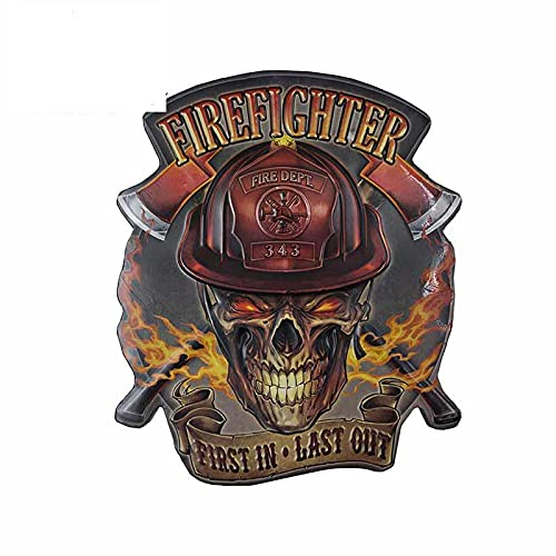 A/X 13cm For Skull Firefighter Body for Car Stickers Creative Decal Scratch Proof Vinyl Material Waterproof