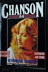 CHANSON 84 n° 7 DECEMBRE & JANVIER 1984 COVER VERONIQUE SANSON YVES DUTEIL NINO FERRER SERGE GAINSBOURG JANE BIRKIN