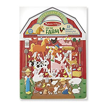 Melissa & Doug Puffy Sticker Play Set - On the Farm - 52 Reusable Stickers 2 Fold-Out Scenes