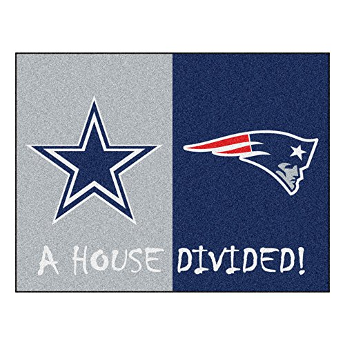 NFL House Divided - Cowboys/Patriots Rug, 34