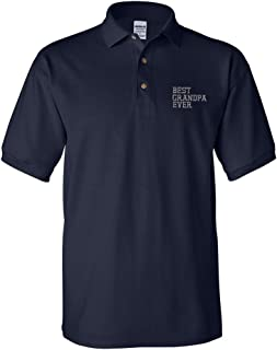 Best Grandpa Ever Embroidery Design Adult Unisex Cotton Polo Shirt