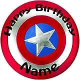 Personalizado escudo de Capitán América Decoración para Tarta para–una precortado redondo 8'(20cm) glaseado decoración