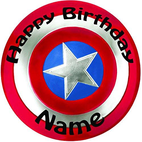 Personalizado escudo de Capitán América Decoración para Tarta para–una precortado redondo 8