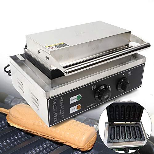 Berkalash Hot Dog Waffeleisen, 1500W Elektro Hotdog Waffle Maker Kommerzielles Waffeleisen Edelstahl Corn Dogs Hotdog für die Waffelherstellung
