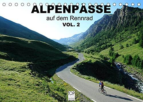 Alpenpässe auf dem Rennrad Vol. 2 (Tischkalender 2022 DIN A5 quer)