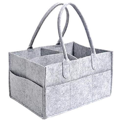 DERCLIVE Organizador multifuncional de pañales para bebé, juguetes, almacenamiento de guardería, bolsa portátil de viaje, cesta de almacenamiento, 38 x 26 x 18 cm