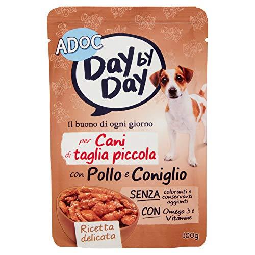 Adoc Day By Day Alimento Completo per Cani con Pollo e Coniglio, 100g