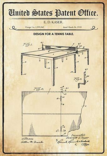 Cartel de metal para mesa de ping pong (20 x 30 cm)