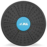 JLL Plastic Balance Board Exercise Fitness Yoga Pilates Workout Rehabilitation Wobble Board. Includes Attachable More Rounded Base For Greater Difficulty …
