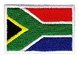 Bestellmich Südafrika Flagge Klein Aufnäher Bügelbild Größe 4,7 x 3,2 cm
