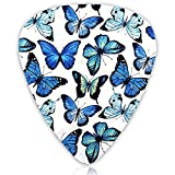 Guitar Picks 12-pack Blue Butterfly Guitar Plectrums for Guitar Electric Acoustic Guitar Mandolin Bass