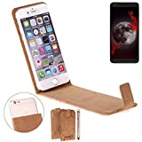K-S-Trade Cork Case Flip Style Cover for Sharp Aquos B10,