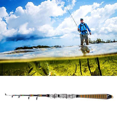 Rodipu Herramienta de Pesca Ligera, caña de Pescar de Fibra de Carbono Flexible, para Pesca de bagre bajo(120cm)