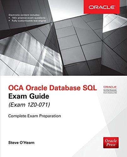 OCA Oracle Database SQL Exam Guide (Exam 1Z0-071) (Oracle Press)