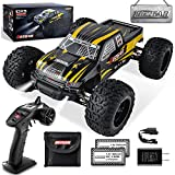 BEZGAR 1 Hobbyist Grade 1:10 Scale Remote Control Truck, 4WD High Speed 40+ kmh All Terrains Electric Toy Off Road RC Monster Vehicle Car Crawler with 2 Rechargeable Batteries for Boys Kids and Adults