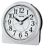 Seiko QHE137S Unisex Alarm Clock Analogue Silver