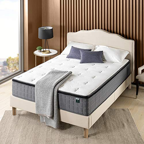 ZINUS 12 Inch Cool Touch Comfort Gel-Infused Hybrid Mattress / Pocket Innersprings for Motion Isolation / Mattress-in-a-Box, Full