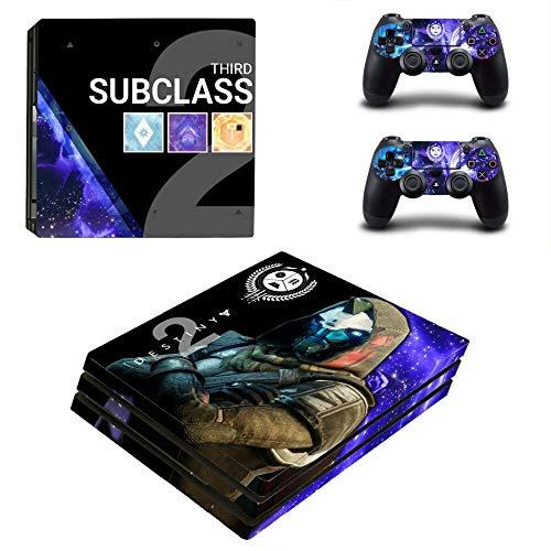 FENGLING Game Destiny 2 Ps4 Pro Skin Aufkleber für Playstation 4 Pro Konsole und Controller für Dualshock 4 Ps4 Pro Aufkleber Aufkleber