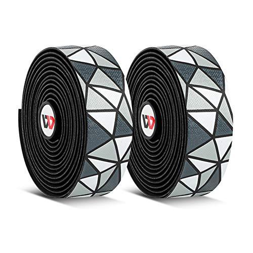 Zebery Correa antideslizante para manillar de bicicleta Pu Eva Soft Grips Wrap Tape Cubierta del volante con 2 tapones de barra