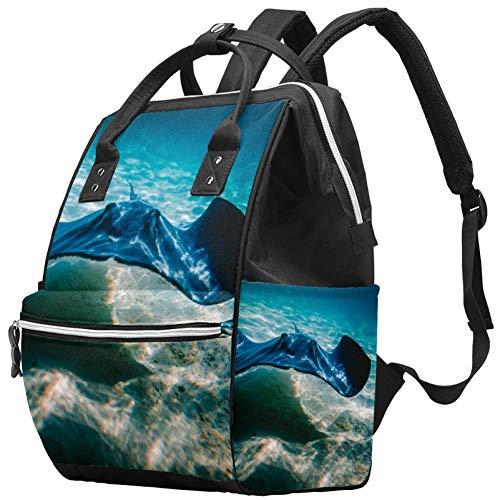 Bennigiry Cool Stingray - Mochila para pañales, gran capacidad, bolsa de viaje, bolsa organizadora de pañales multifunción para mamá 🔥