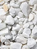 Grava blanca pura mármol. Marmolina blanca, piedra para...