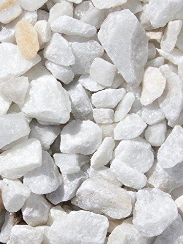 Grava blanca pura mármol. Marmolina blanca, piedra para decoración en jardín en sacas de 250kg. Disponible en formatos 9-12mm y 16-25mm. (16-25mm)