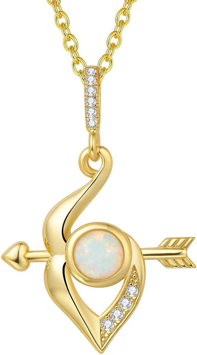 即納送料無料! FANCIME Sterling Silver 即納送料無料 Created Fire and Bow Opal Cupid's Arrow