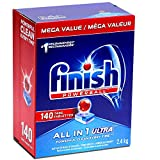 Finish Powerball Automatic Dishwasher Detergent, All in 1 Ultra Powerful Clean, 2.4 KG - 140 Tabs