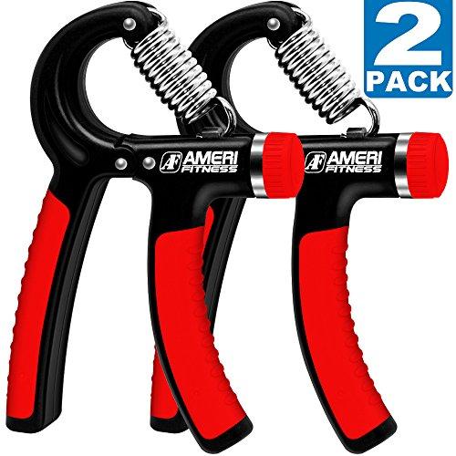 Ameri Fitness Hand Grip Strengthener Strength Set of 2 Increasing Hand Wrist Forearm Trainer Exerciser Adjustable Resistance 22~88 Lbs NonSlip Gripper