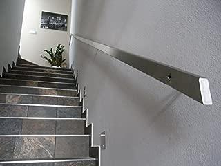 Pasamanos inoxidable rectangular, 40x 20mm, gris