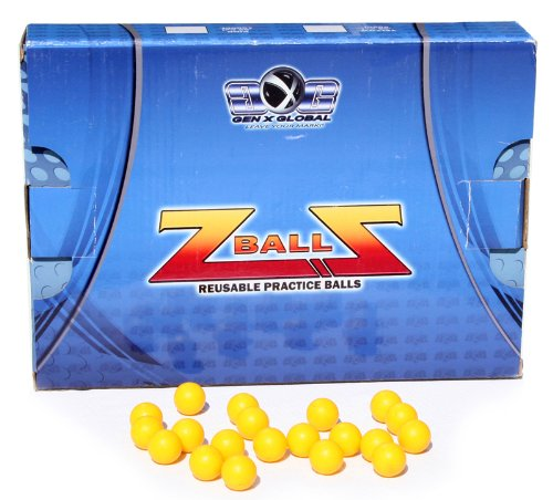 GXG Paintball Rubber 100 Reusable Paintballs - Yellow