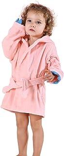 Michley Baby Bademantel Kinder 100% Baumwolle Kapuzenhandtuch Mädchen Dinosaurier Badetücher