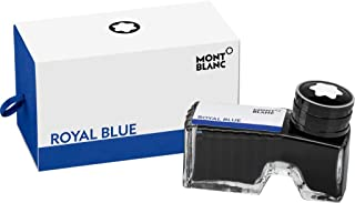 Montblanc Ink Bottle Royal Blue 105192 – Premium-Quality Refill Ink in Deep Blue for Fountain Pens, Quills, and Calligraphy Pens – 60ml Inkwell