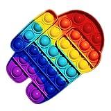 ClickAndBuy Among Us Popit Fidget Toy juguete sensorial antiestres de explotar burbujas de silicona, pop it, push pop, autismo, necesidades especiales, juguetes antiestres para niños y adultos