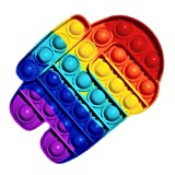 ClickAndBuy Among Us Popit Fidget Toy juguete sensorial antiestres de explotar burbujas de silicona,...