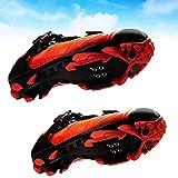 FACAI Chaussures De VTT Superstar Chaussure D'équitation Autobloquante Hommes Chaussures De Cyclisme VTT Respirantes,Orange-43