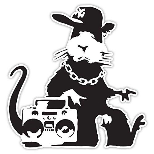 Banksy Rat Ghetto Design   Adhesivo de vinilo para pared, diseño de...