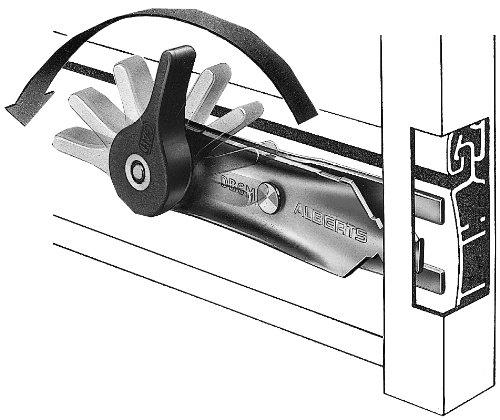 Gah-Alberts 905118 Klemmsicherung für Rollläden, leicht zu montierende Einbruchschutz, Oberfläche: verzinkt
