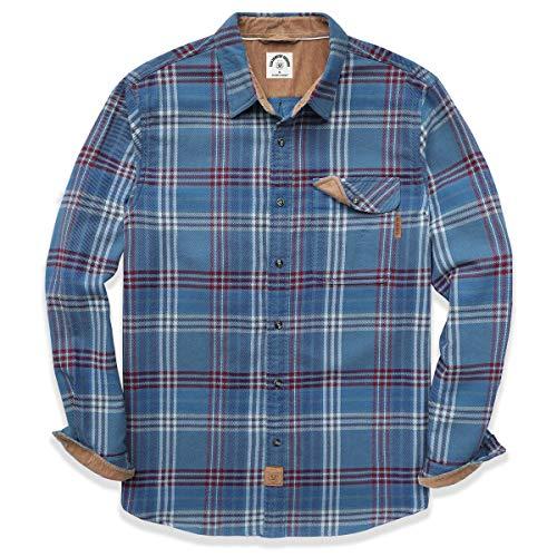 Dubinik - Camicia casual a maniche lunghe motivo scozzese, con bottoni, in cotone - - L